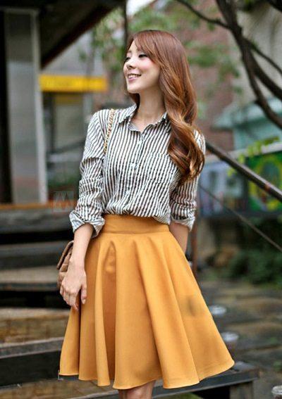 Phong cách áo sơ mi nữ đơn giản, nhẹ nhàng