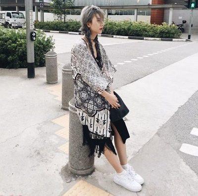 Phong cách Streetwear: Áo khoác kimono