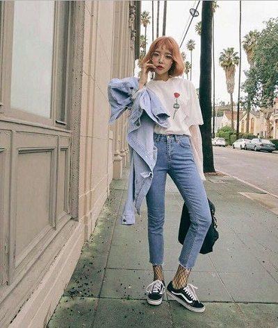 Phong cách Streetwear: Bộ jeans