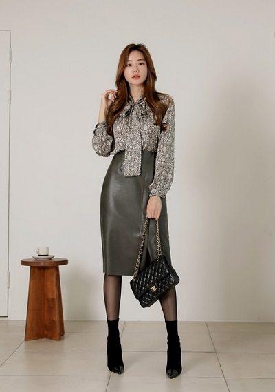 Chân váy da - Ảnh 2 - 4 Trang phục công sở giúp nàng tươi mới mẻ mỗi ngày