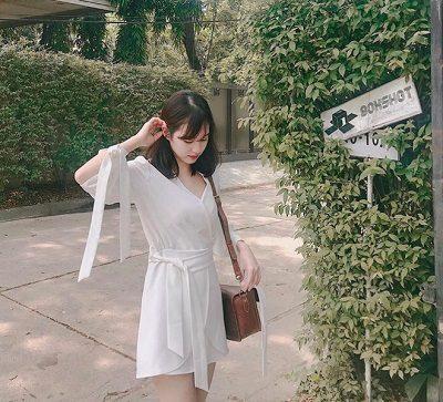 Váy freesize thắt eo - Cách mặc đồ cho người béo bụng trở nên quyến rũ