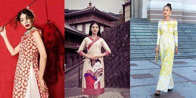 Một số mẫu áo dài cách tân có kiểu dáng khá khác lạ nhưng vẫn không bị biến chất.