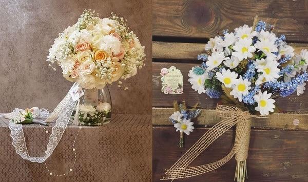 Cách làm hoa cưới cầm tay cô dâu đơn giản