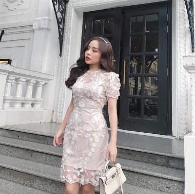 Đầm ren trắng quyến rũ