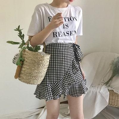 Váy quấn: Những kiểu phối áo thun với váy quần với áo đẹp mê ly - Ảnh 3
