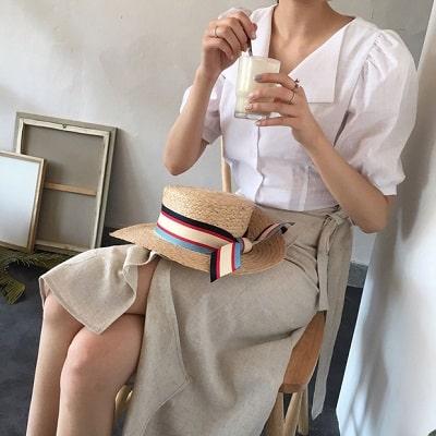 Váy quấn: Những kiểu phối áo thun với váy quần với áo đẹp mê ly - Ảnh 8