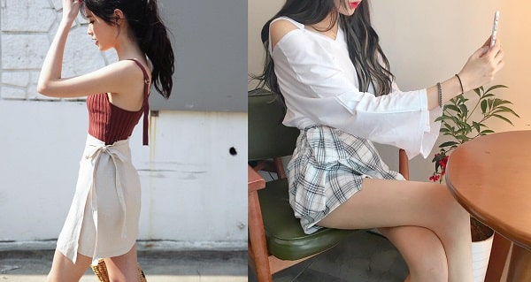 Váy quấn: Những kiểu phối áo thun với váy quần với áo đẹp mê ly