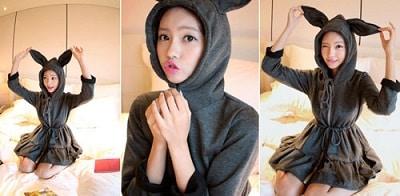 Áo mũ tai thỏ, tai gấu làm các cô nàng trẻ hơn, dễ thương hơn
