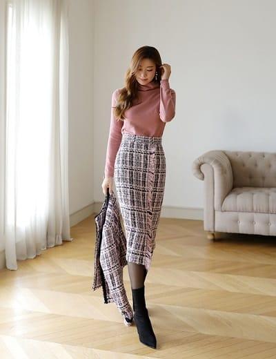 Mùa đông lạnh nhưng nếu muốn đẹp nhất quyết không thể thiếu chân váy
