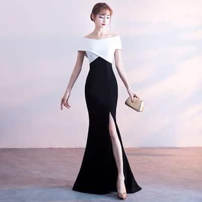 Đầm dạ hội băng quấn xẻ cao