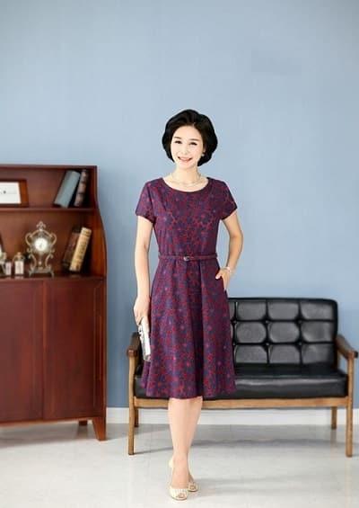 Đầm đẹp tuổi 45: Đầm xoè trung niên