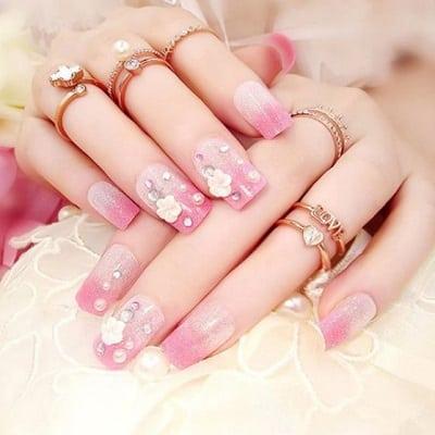 Mẫu móng tay hoa lá - Ảnh 9
