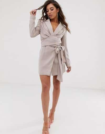 Blazer dress quấn vạt eo