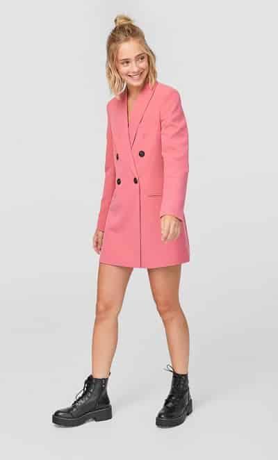 Blazer dress nữ tính sáng màu