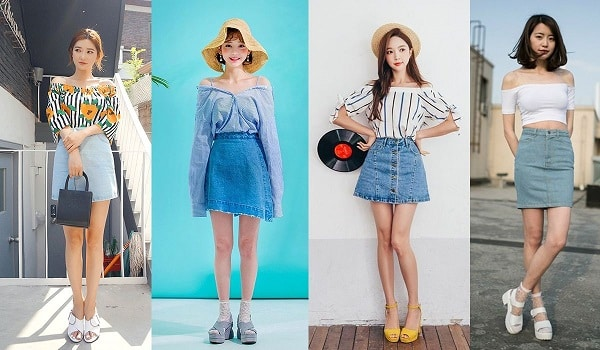 """10 Kiểu phối đồ với áo trễ vai hot nhất hè 2020 khiến nàng phải """"rụng tim"""""""