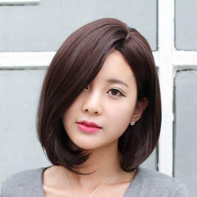Tóc ngắn Hàn Quốc uốn cụp đuôi