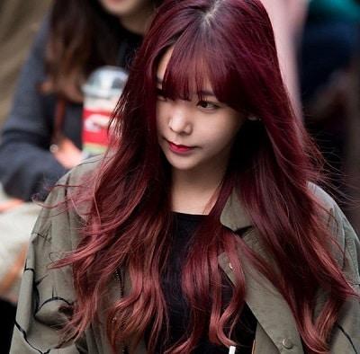 Màu tóc tía (hung đỏ)