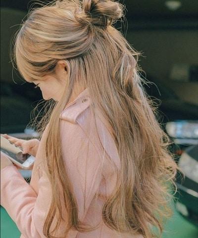 Màu mơ – Màu tóc đẹp 2020 mới lạ