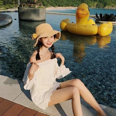 Mặc Váy trắng đi biển đi Phú Quốc