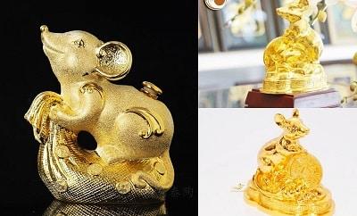 Tượng vàng – Quà tết ý nghĩa