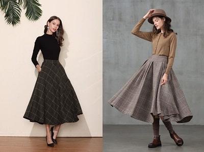 Mẫu chân váy vintage dễ thương, xinh đẹp