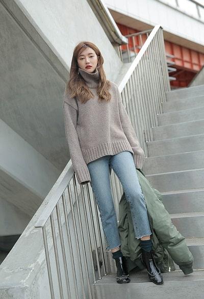 Áo len cổ lọ Hàn Quốc vừa thời trang lại vô cùng ấm áp