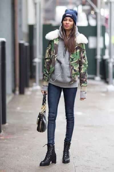 Áo khoác dáng ngắn Hoodie + Quần Skinny