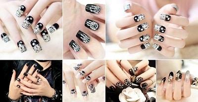 Mẫu nail đẹp màu đen