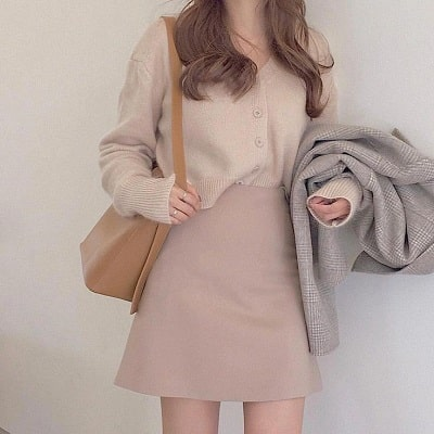 Mặc chân váy chuẩn phong cách Hàn cho nàng công sở