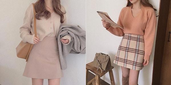 4 Phong cách mix chân váy chuẩn phong cách Hàn Quốc