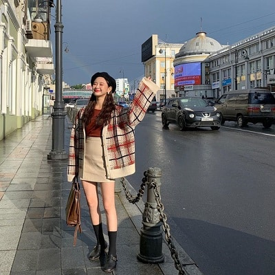 Chân váy ngắn ôm Hàn Quốc