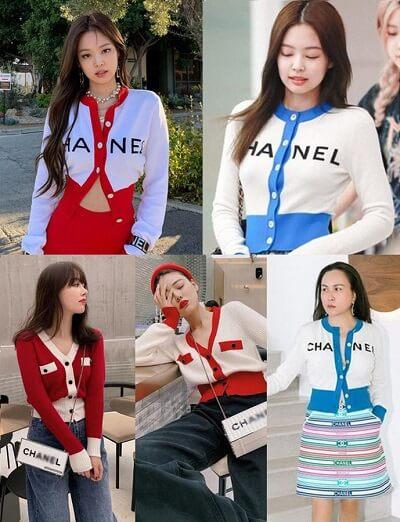 Chiếc áo Cardigan Chanel đã được mỹ nhân YG diện ra sân bay tới 2 lần nên trở thành hot trend cũng là điều đương nhiên.