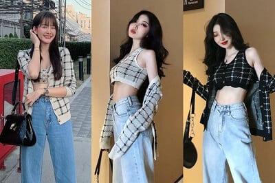 """Nhiều shop thời trang cũng đang rao bán set đồ này với giá khá """"mềm"""" để phù hợp cho những cô nàng muốn """"đu đưa"""" theo idol nhưng hầu bao có hạn."""
