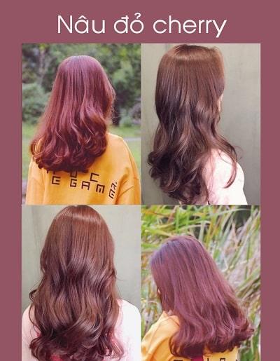 Màu tóc nâu đỏ cherry