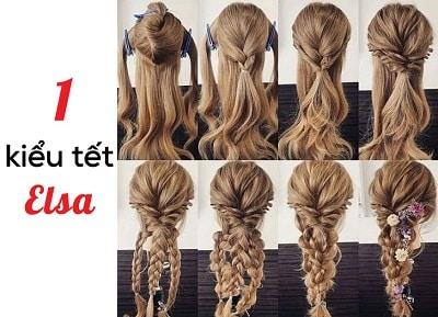 Kiểu tóc tết Elsa