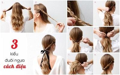 Kiểu tóc đuôi ngựa cách điệu