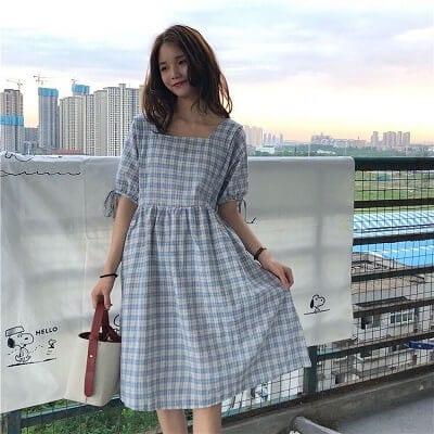 Đầm vintage cổ vuông khiến nàng hứng thú diện cuối tuần