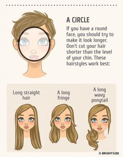 Kiểu tóc phù hợp với gương mặt tròn