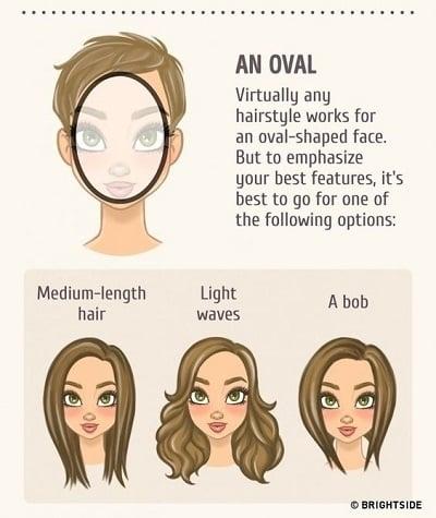 Kiểu tóc phù hợp với gương mặt trái xoan