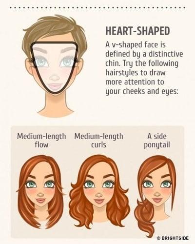 Kiểu tóc phù hợp với gương mặt trái tim