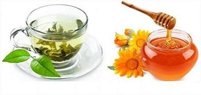 Giảm cân bằng mật ong và trà xanh