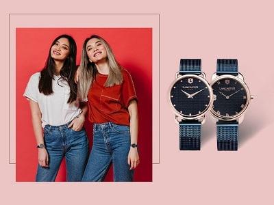 Đồng hồ đôi Lancaster: Bộ đôi xanh tạo nét cá tính cho người đeo