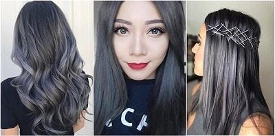 Màu tóc đen khói