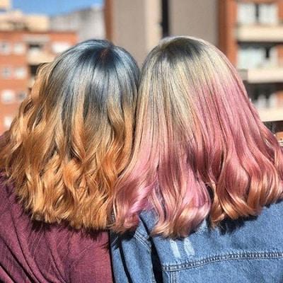 Màu tóc đẹp ombre