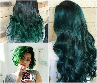 Màu tóc xanh rêu