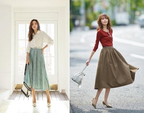 Mẹo mặc váy midi thật xinh cho cô gái 3 mét bẻ đôi