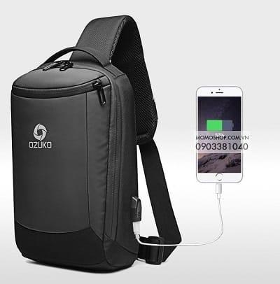 Balo Đeo Chéo Nam Ozuko Backpack Grade (BN500_DEN)