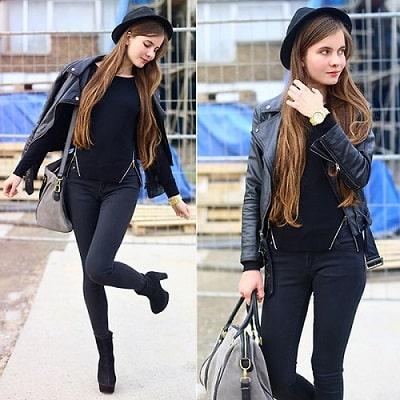 Ngoài việc kết hợp với quần jeans, áo thun đơn giản bạn có thể phối với kiểu quần ôm sát người