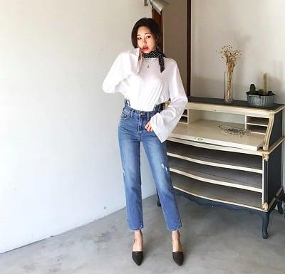 Quần jeans ống đứng/ống rộng