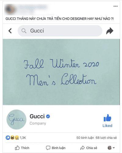 """Trend GUCCI 2020: Lầy lội treo avatar và cover """"viết ẩu"""", dân tình bình luận: chắc Designer nghỉ Tết rồi! - Ảnh 2"""